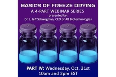 SP Science将于10月31日举办关于冷冻干燥技术的研讨会